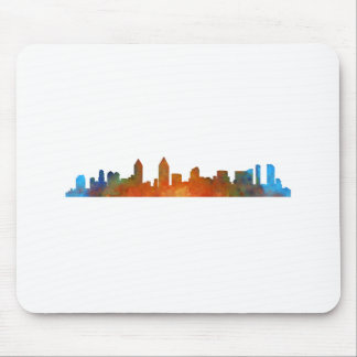 Californian San Diego City Skyline Watercolor v01 Mouse Pad