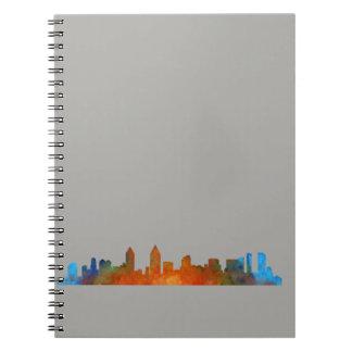 Californian San Diego City Skyline Watercolor v01 Notebooks