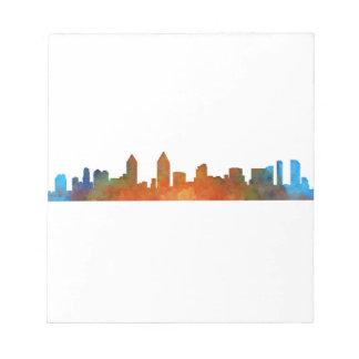 Californian San Diego City Skyline Watercolor v01 Notepad