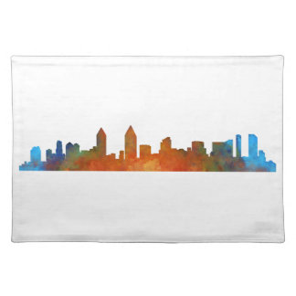 Californian San Diego City Skyline Watercolor v01 Placemat