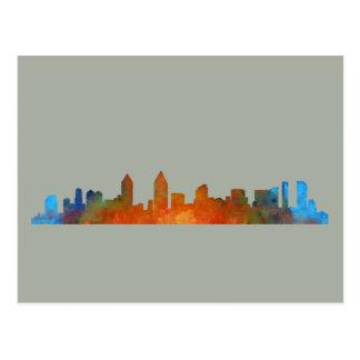 Californian San Diego City Skyline Watercolor v01 Postcard