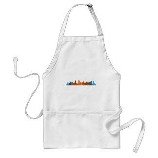 Californian San Diego City Skyline Watercolor v01 Standard Apron