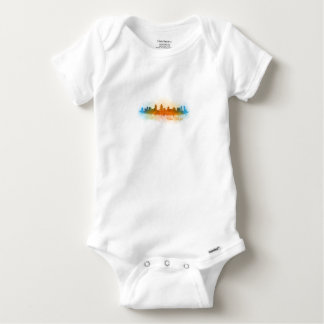 Californian San Diego City Skyline Watercolor v03 Baby Onesie