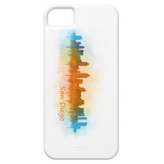 Californian San Diego City Skyline Watercolor v03 Case For The iPhone 5