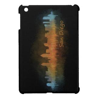 Californian San Diego City Skyline Watercolor v03 iPad Mini Case