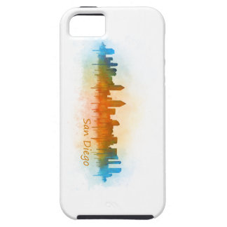 Californian San Diego City Skyline Watercolor v03 iPhone 5 Case
