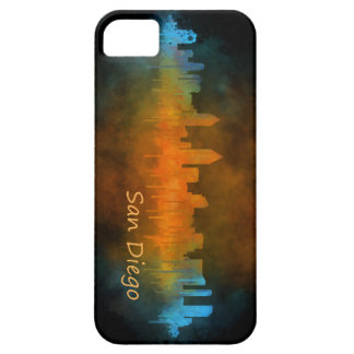 Californian San Diego City Skyline Watercolor v04 iPhone 5 Covers