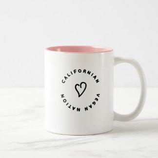 """CALIFORNIAN_VEGAN_NATION"" Two-Tone COFFEE MUG"