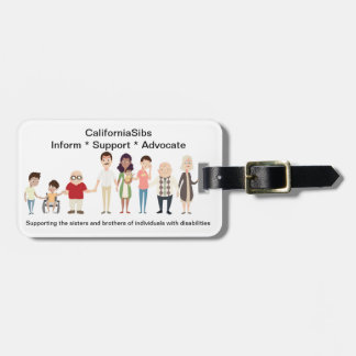 CaliforniaSibs Luggage Tag