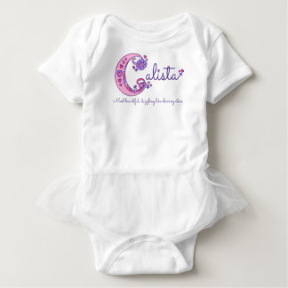 Calista girls name & meaning C monogram shirt