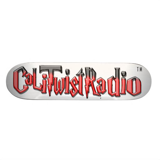 CaLiTwistRadio Red Skateboard