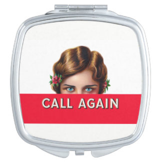 Call Again Cigar Label Compact Mirror For Makeup