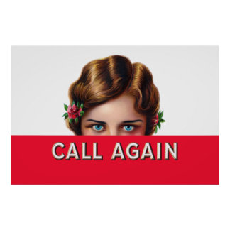 Call Again Cigars Poster