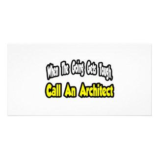 Call an Architect Custom Photo Card