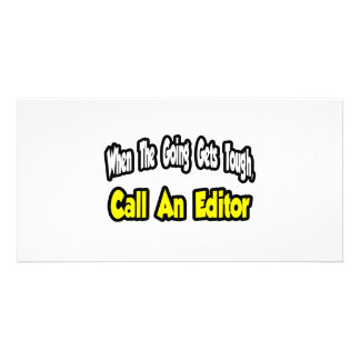 Call an Editor Personalized Photo Card