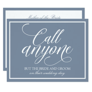 Call Anyone Card | Sketched (Dusty Blue)