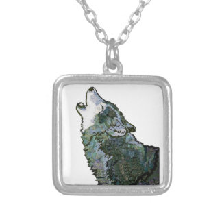 CALL AT MIDNIGHT SILVER PLATED NECKLACE