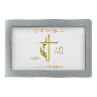 Call Jesus name Rectangular Belt Buckle