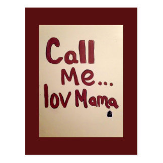 call mama (original) postcard