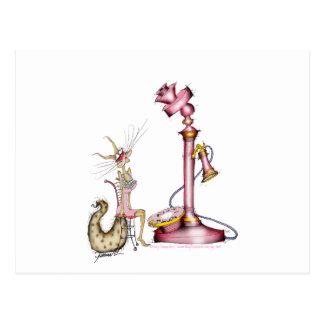 call me - a wonderful cat cartoon, tony fernandes postcard