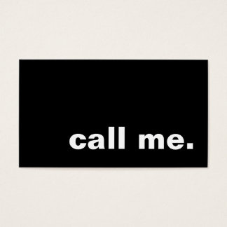 call me. business card