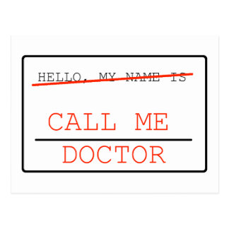 Call Me Doctor Post Card