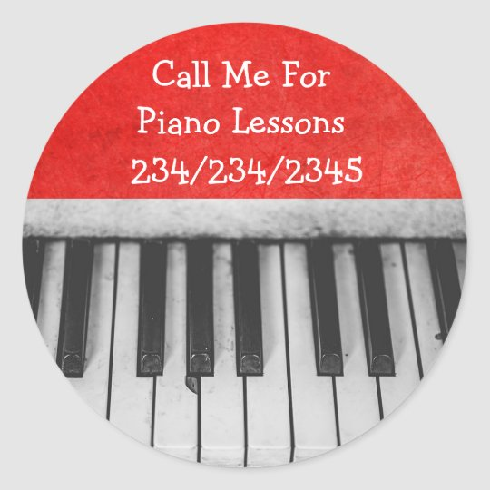 Call Me For Piano Lessons Promotional Stickers