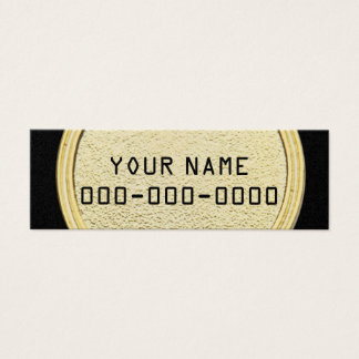 CALL ME GOLD & BLACK MINI BUSINESS CARD