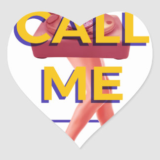 Call Me Heart Sticker