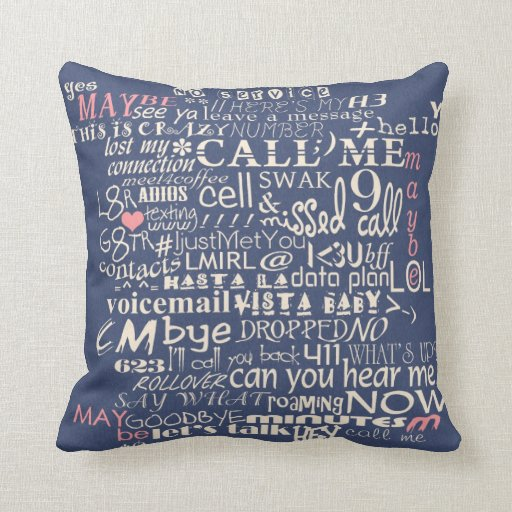 Call Me...Maybe 2nd Version Throw Pillows