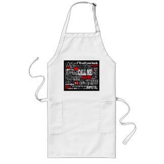Call Me... Maybe (Dark Colors) Long Apron