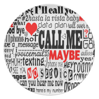 Call Me...Maybe Party Plates