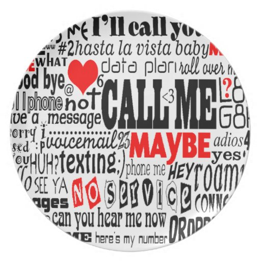 Call Me...Maybe Plate