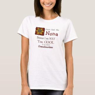 Call Me Nona Cool Grandma T-shirt Prim Sunflower