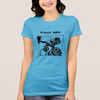"""""""Call Me"""" Rotary Telephone Tshirt"""