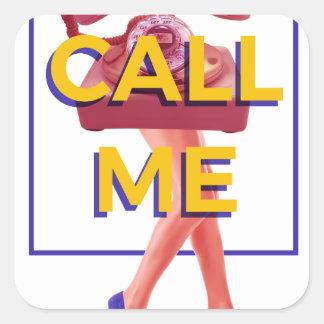 Call Me Square Sticker