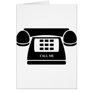 Call Me!  Telephone!  Let's Talk! Card