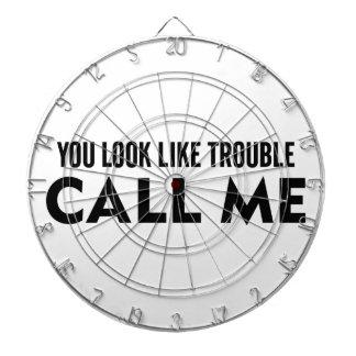 Call Me Trouble Dartboard
