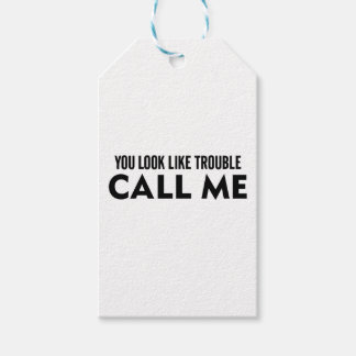 Call Me Trouble Gift Tags