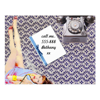 Call Me - Vintage Style Postcard