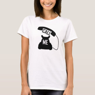Call me vintage telephone lady's tshirt