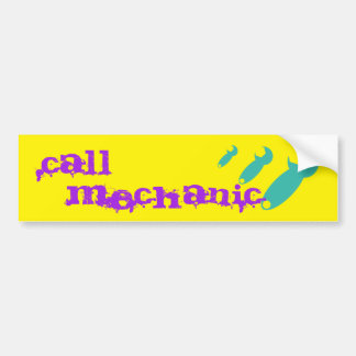 Call Mechanic Bumper Sticker