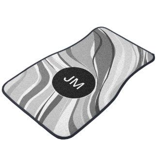 Call Monogram Modern Abstract Car Mat