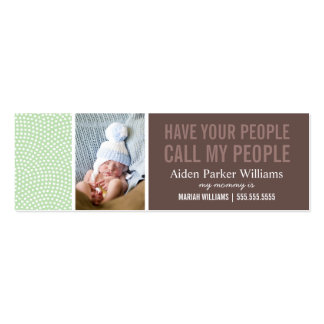 CALL MY PEOPLE | MOMMY CALLING CARD PACK OF SKINNY BUSINESS CARDS