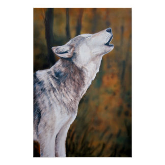 """Call of the Wild"" Wolf Art Reproduction Print"