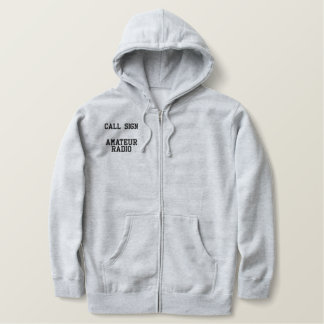 Call Sign Amateur Radio Embroidered Hooded Sweatshirt