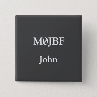 Call Sign Badge 2 Inch Square Button
