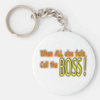Call the Boss Keychain