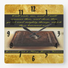 Call unto me, and I will answer thee Jeremiah 33:3 Square Wall Clock