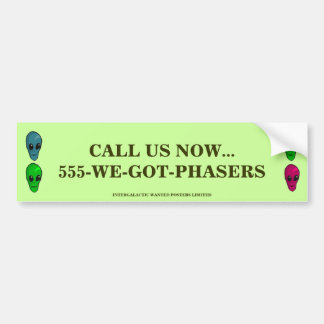 cALL US NOW Bumper Stickers